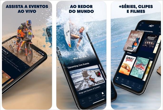 Imagen publicitaria de la aplicación de transmisión de videos deportivos de Red Bull TV