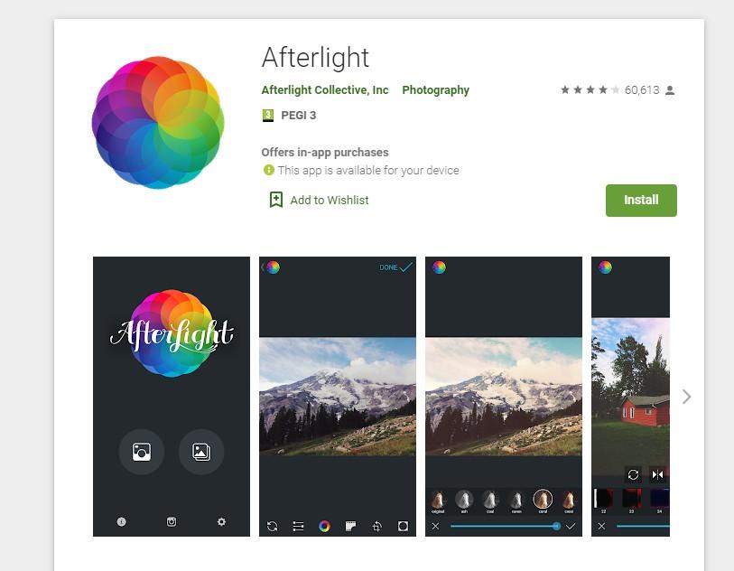 enfocar fotos desenfocadas app afterlight