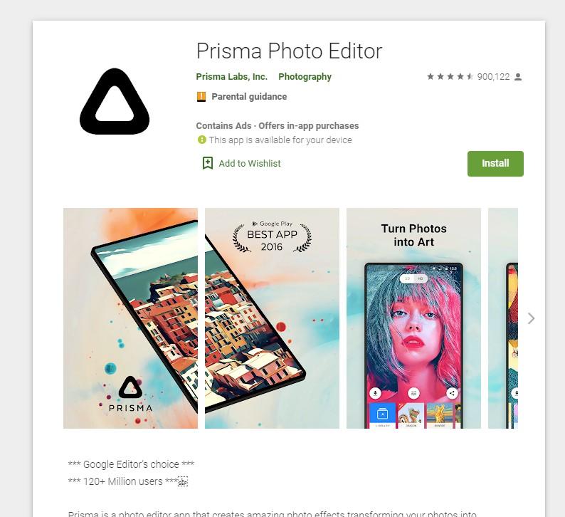 enfocar fotos desenfocadas app prisma photo editor