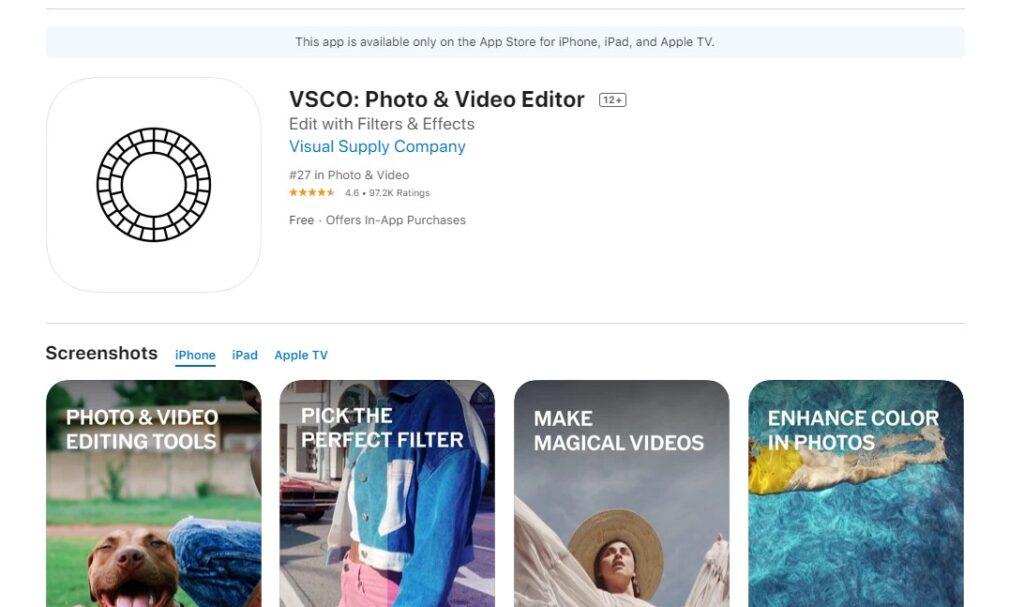 enfocar fotos desenfocadas app vsco