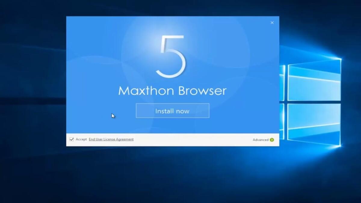 Instalación de Windows del navegador Maxthon 5