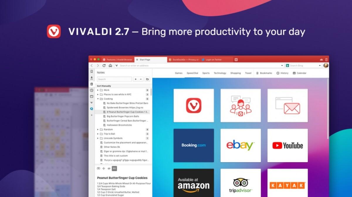 Características del navegador Vivaldi
