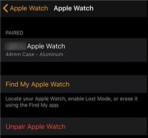Desemparejar un Apple Watch del iPhone